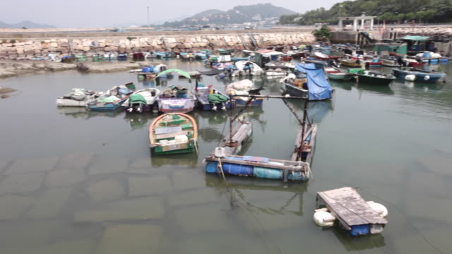 The Colourful Fishing Harbour On The Island Of Cheung Chau, Hong Kong