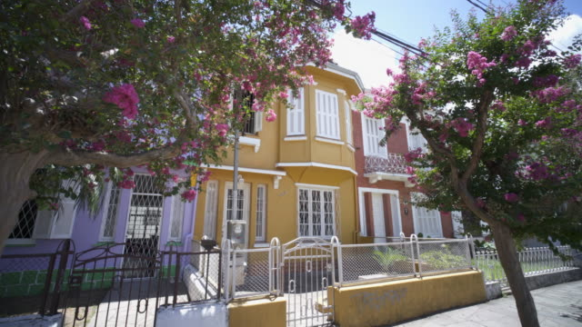 the colourful houses of cidade baixa, porto alegre, southern brazil. - alegre stock videos & royalty-free footage