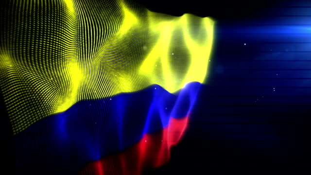 the columbian flag - background loop (full hd) - colombian flag stock videos and b-roll footage