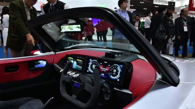 the combined exhibition of advanced technologies japan 2018 is held at the makuhari messe convention center in chiba japan on wednesday october 17... - personal land vehicle stock videos & royalty-free footage