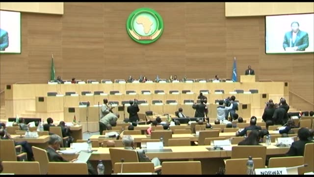 the comesa summit for economy and finance ministers in the ethiopian capital comes to a close - corno d'africa video stock e b–roll