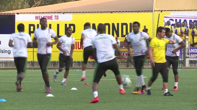 the comoros national football team training in uganda ahead of the international match between uganda and comoros. footage shows team arrival and... - kampala stock videos & royalty-free footage