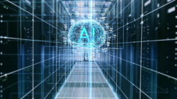 The Concept of Digital Brain: Abstraction of Functional Artificial Intelligence in the Data Center with Streams of Information Going through It. AI Letters inside the Brain.