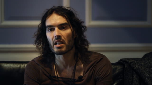 the controversial british comedian, actor, activist, and recovering addict russell brand shares his thoughts on drugs & economic depravation. - addict stock videos & royalty-free footage