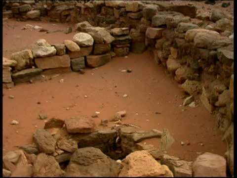 the copper ovens, timna, israel - archeologia video stock e b–roll