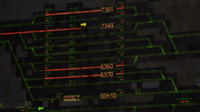 the coquelles section of the eurotunnel network is seen on the giant real-time display board in the rail control centre at the eurotunnel terminal,... - eurotunnel folkestone stock-videos und b-roll-filmmaterial