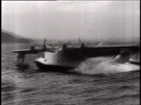 the coronado plane landing in rough water / united states - wackelaufnahme stock-videos und b-roll-filmmaterial