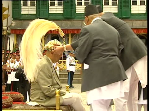 The coronation of Nepal's new king Gyanendra following the deaths of 10 members of the royal family
