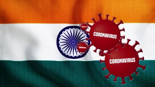 vidéos et rushes de l'épidémie de coronavirus couvre le drapeau de l'inde - inde