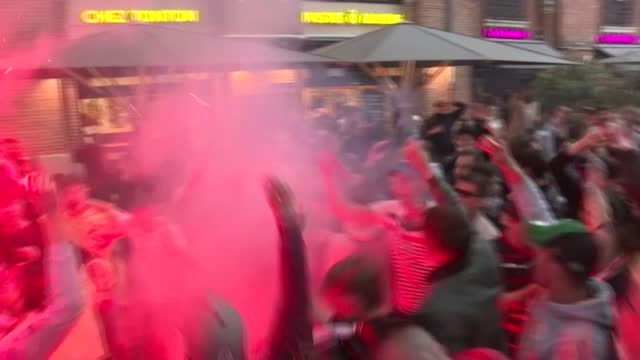 the coronavirus restrictions did not prevent gatherings and celebrations in toulouse, notably saint peter's square, as the stade toulousain won the... - toulouse stock videos & royalty-free footage