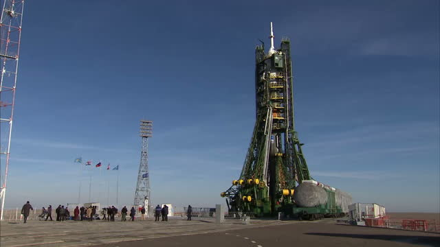 the countdown is on for british astronaut tim peake. tomorrow he's due to take off from kazakhstan for his six-month mission on board the... - kazakhstan stock videos & royalty-free footage