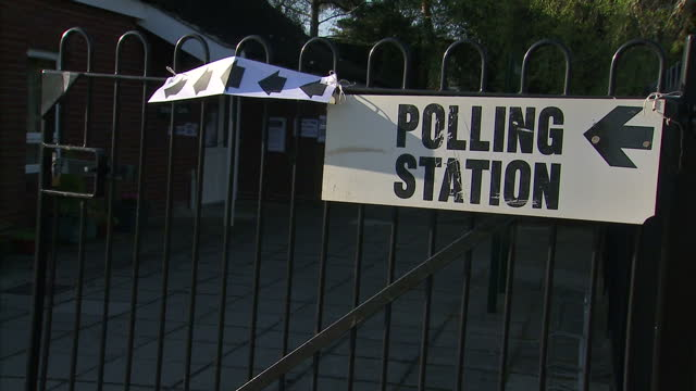 the country goes to the polls to vote in the general election. shows exterior shots polling station in norwich with people coming & going. on may 07,... - ballot box stock videos & royalty-free footage