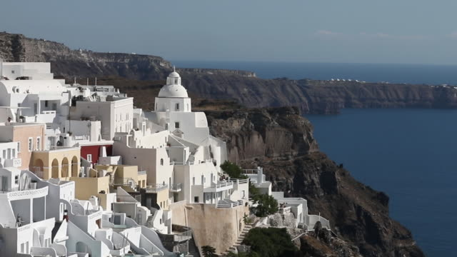 the country reopens on monday june 15 to foreign visitors with the first scheduled international flights set to arrive in athens and thessaloniki... - santorini stock videos & royalty-free footage