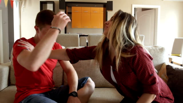 the couple is fighting at home - substance abuse stock videos and b-roll footage