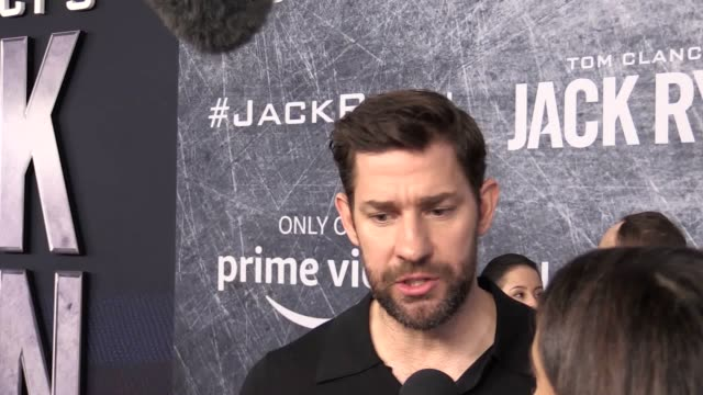 the creators and executive producers of amazon prime's jack ryan carlton cuse and graham roland said the role could soon be played by a woman - gafam点の映像素材/bロール