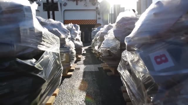 the crew of the coast guard cutter bertholf offloads more than 36000 pounds of suspected contraband at b street pier san diego march 20 2018 the... - cocaine stock videos and b-roll footage