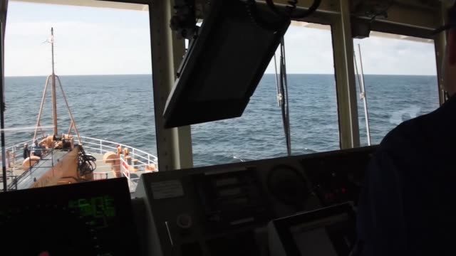 the crew of the coast guard cutter maria bray help create an underwater reef habitat by offloading reclaimed concrete reef balls and old navigations... - coast guard stock videos and b-roll footage