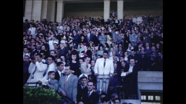 the crowd at a horserace in brazil. - 1940 stock videos & royalty-free footage