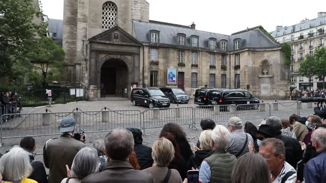 FRA: Guy Bedos' Funerals At Eglise De Saint-Germain-des-Pres In Paris