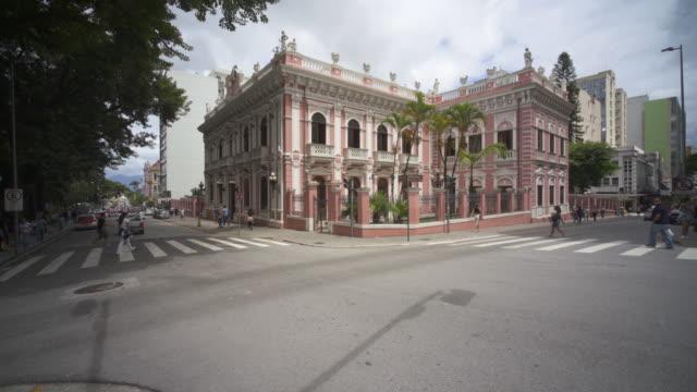 vídeos de stock, filmes e b-roll de the cruz e sousa palace and santa catarina history museum, florianopolis, brazil - palace