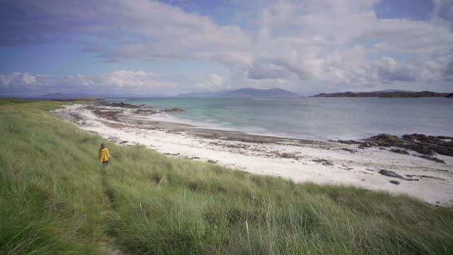 the crystal clear blue waters of iona, scotland - pilgrimage stock videos & royalty-free footage