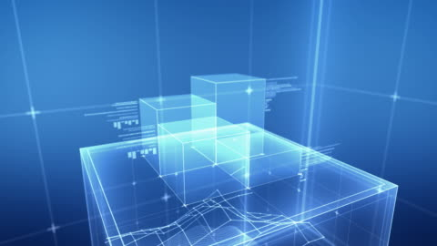 the cube - blue - cube shape stock videos & royalty-free footage