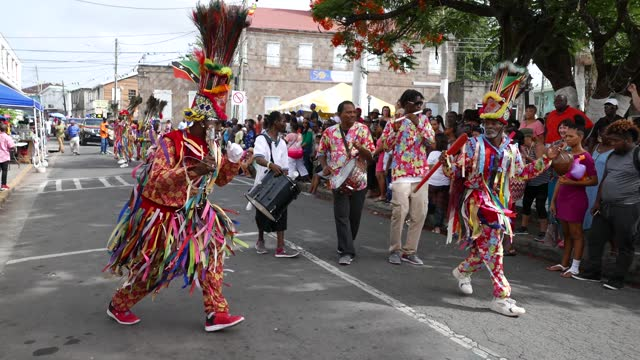the culturama parade at nevis. caribbean - annual event stock videos & royalty-free footage