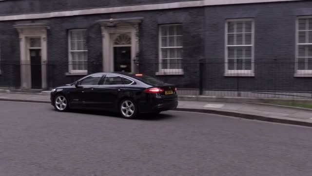 The current Minister of State for Immigration and MP for Great Yarmouth Brandon Lewis arrives at 10 Downing Street ahead of the cabinet reshuffle
