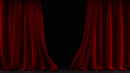 The curtain on the stage. The animation is looped.