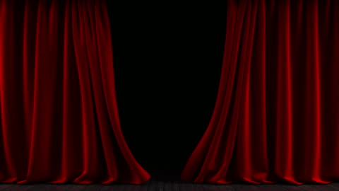 the curtain on the stage. the animation is looped. - theatre building stock videos & royalty-free footage