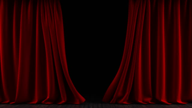 the curtain on the stage. the animation is looped. - theatrical performance stock videos & royalty-free footage