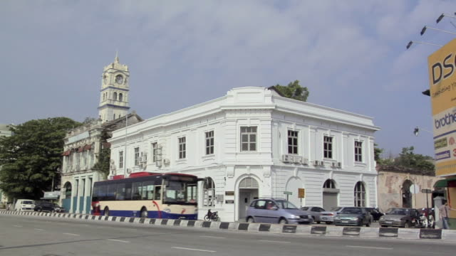 ws the custom department (former federal malay state railway building- the only railway station without a rail) on penkalang weld / george town, penang, malaysia - penang stock videos and b-roll footage