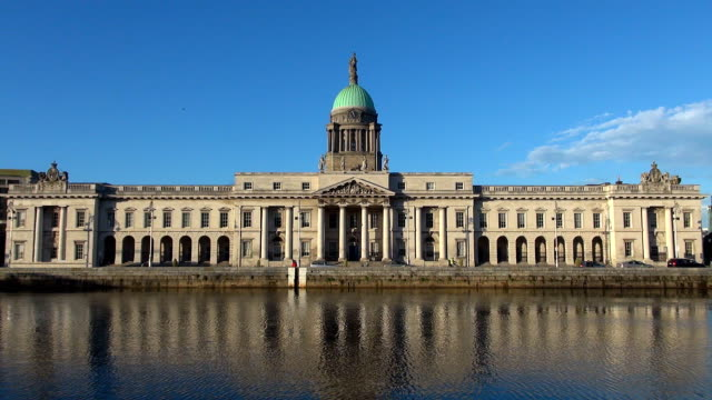 the custom house - dublin, republic of ireland - dublin republic of ireland stock videos & royalty-free footage