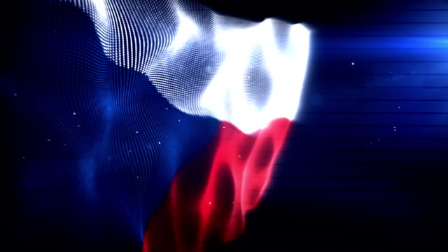 The Czech Republic Flag - Background Loop (Full HD)