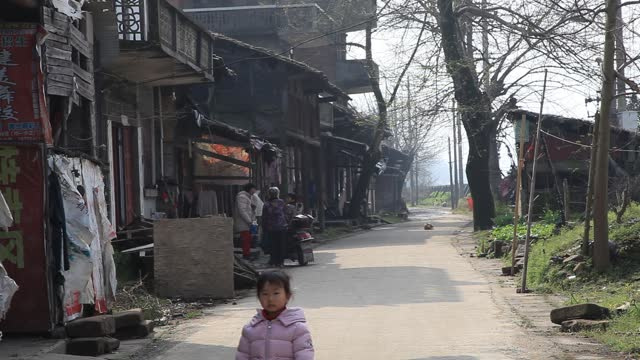 the daily life of the residents of wenchang li, the old town of fuzhou - narrow stock videos & royalty-free footage