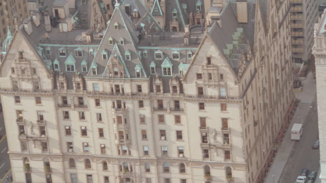 the dakota apartment building stands in manhattan. - 2001 stock videos & royalty-free footage