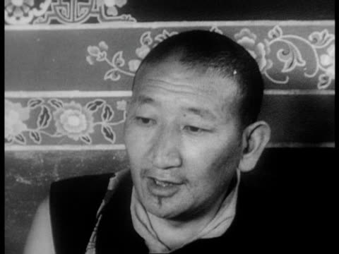 the dalai lama's now abandoned rooms and palace / dalai lama has been 'kidnapped' by rebels - 1966 stock videos and b-roll footage