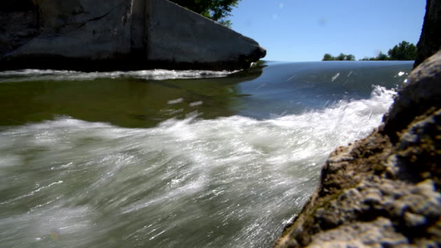 the dam on the saugeen river near by walkerton, brockton, bruce county, ontario, canada. - dam stock videos & royalty-free footage