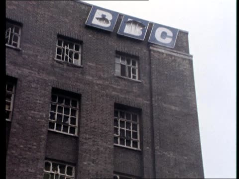 the damage to the offices of the bbc in belfast is clearly evident following a car bomb explosion - weaponry stock videos & royalty-free footage