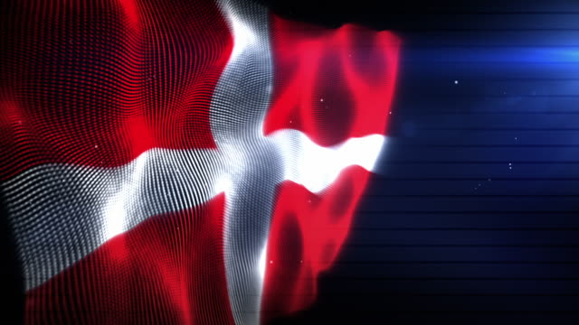 the danish flag - background loop (full hd) - danish flag stock videos and b-roll footage