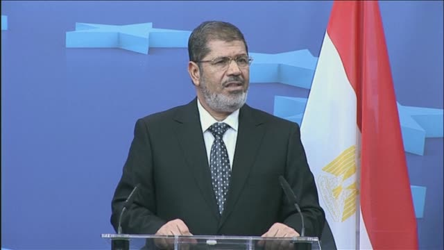 the day he was sworn in as egypts first civilian president in june 2012 mohamed morsi told a cheering crowd in cairos tahrir square he would be a... - president stock videos & royalty-free footage