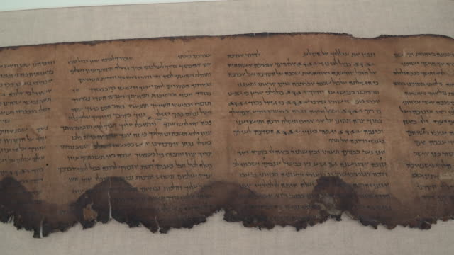 the dead sea scrolls - cristianesimo video stock e b–roll
