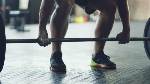 the deadlift - weight training stock videos & royalty-free footage
