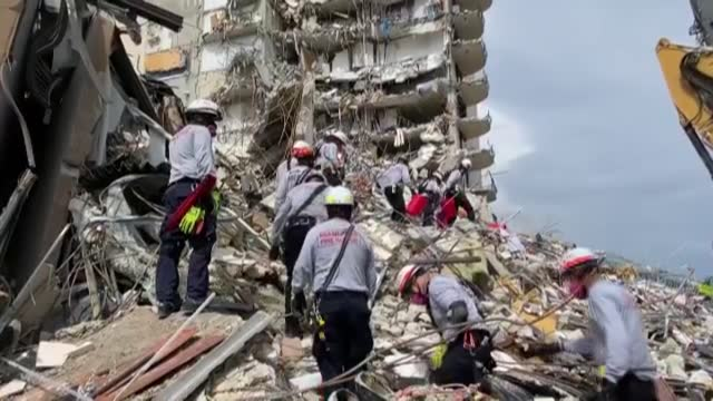the death toll from a partial building collapse in the us state of florida rose to four on friday morning as authorities continue to search through... - miami stock videos & royalty-free footage