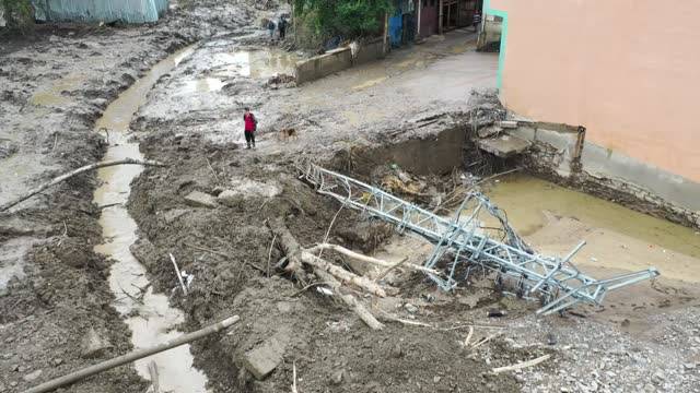 the death toll from floods in turkey's black sea region has risen to 44, authorities said on saturday . floods caused by heavy rains hit the black... - number 7 stock videos & royalty-free footage