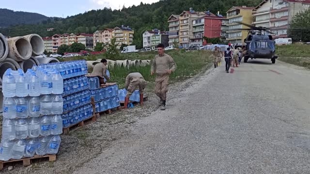 the death toll from floods in turkey's black sea region has risen to 55, authorities said on saturday . floods caused by heavy rains hit the black... - number 8 stock videos & royalty-free footage