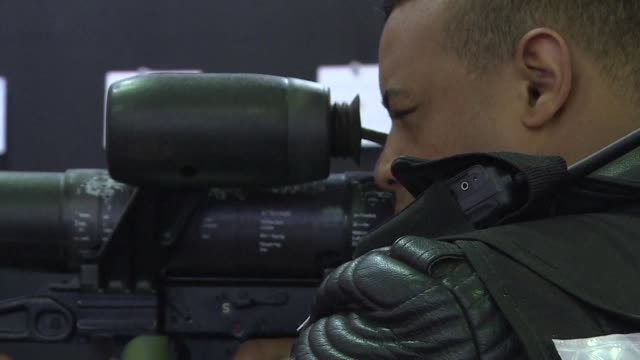 the defence and security international fair exhibition presented as the biggest event of this kind in latin america opens in rio de janeiro - biggest stock videos & royalty-free footage