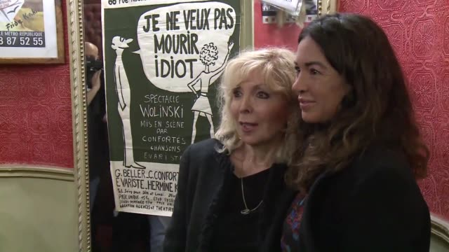 the dejazet theatre in paris is paying tribute throughout the month of september to cartoonist georges wolinski who was killed in the attack at... - cartoonist stock videos & royalty-free footage