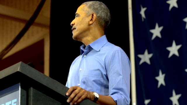 the democratic party of wisconsin is thrilled to welcome president barack obama to wisconsin on friday october 26 to campaign with senator tammy... - バラク・オバマ点の映像素材/bロール
