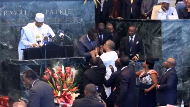 The deputies of the Social Democratic Front Cameroon's main Anglophone opposition party interrupt a national assembly to demand a debate on the...